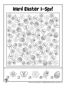 I Spy Printable Easter Game - KEY