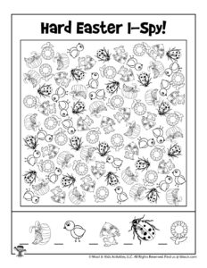 I Spy Printable Activity for Kids