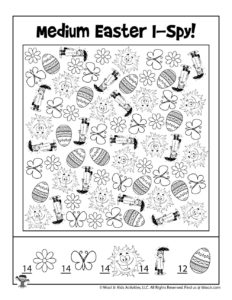 Easter I Spy Printable Game - KEY
