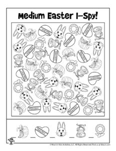 Free I Spy Printable Easter Game