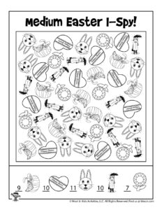 Free I Spy Printable Easter Game - KEY