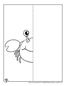 Crab Ocean Symmetry Drawing Lesson for Kids