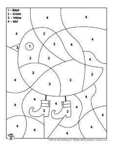 St. Patrick's Color by Number PreK Worksheet