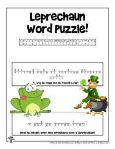 St. Patrick's Day Hidden Message Word Game
