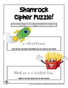 St. Patrick Crack the Code Puzzle for Kids