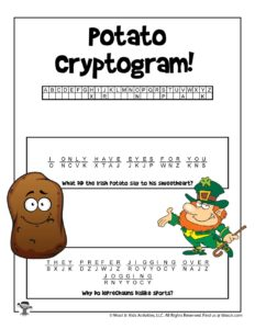 St. Patrick's Day Hidden Message Puzzle - KEY