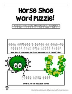 Printable St Patrick Cryptogram Puzzle for Kids - KEY