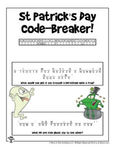 St. Patrick's Cryptogram Decoding Word Puzzle
