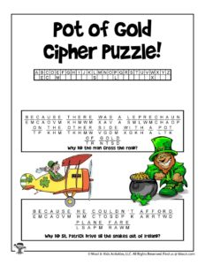 St Patrick Word Puzzle Game - ANSWER KEY