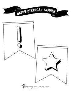 Birthday Party Sign to Color