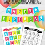 Printable Birthday Pennant Banner