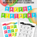 Printable Birthday Pennant Banner
