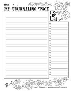 Journaling Writing Page Printable