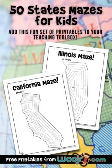 Printable 50 States Mazes