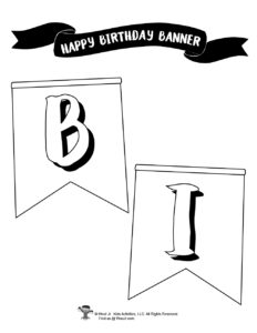 Colorable Birthday Banner for Kids