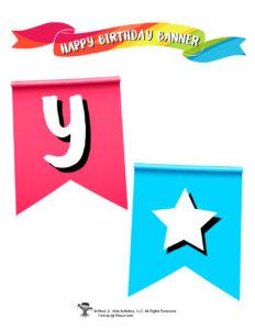 Printable Birthday Party Banner