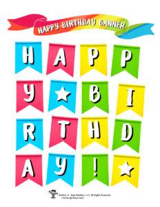 Printable Happy Birthday Banner for Kids