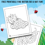 Spring Dot Coloring Pages
