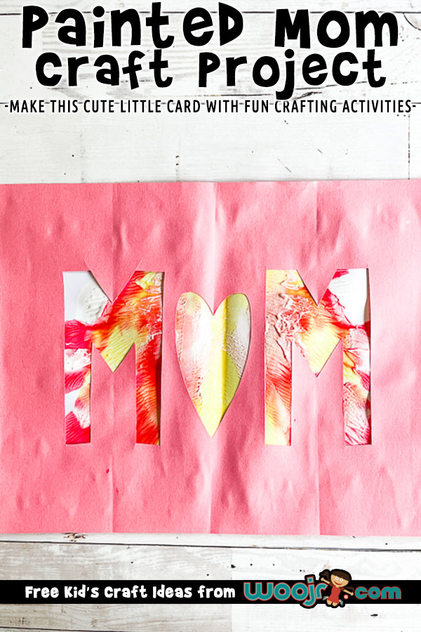Easy Painted Mother's Day Card Idea