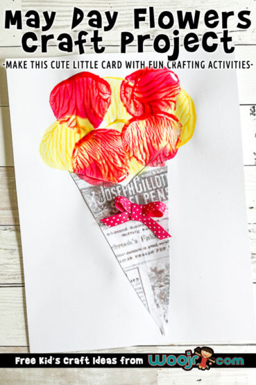 Flower Bouquet Card Craft for May Day