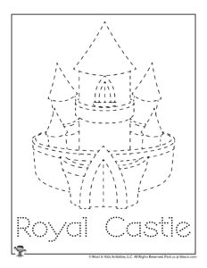 Castle Tracing Drawing Activity