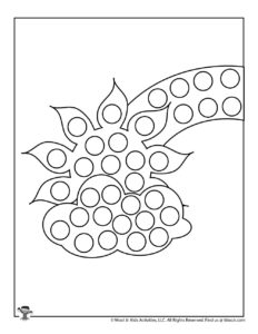 Spring Do a Dot Art Coloring Page