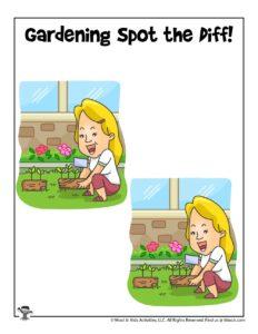 Free Spring Preschool Activity Page