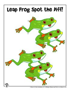 Leap Frog Spot the Difference Game for Kids