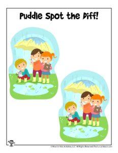 Printable Preschool Spring Activity Page