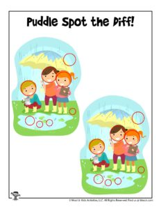 Can You Spot the Difference Preschool Activity Page – KEY