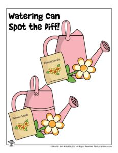 Spring Spot the Difference Activity Printable