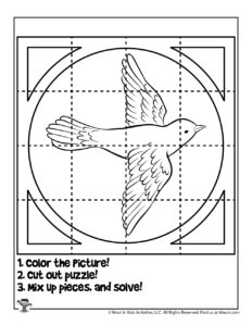 Bird Puzzle Coloring Page