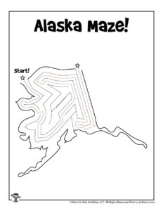 Alaska Maze Puzzle - ANSWER KEY