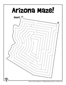 State of Arizona Maze Activity Page