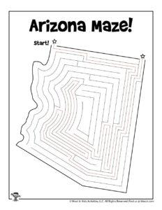State of Arizona Maze Activity Page - KEY