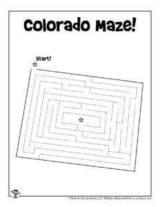 Colorado Printable 50 States Mazes