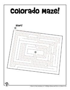 Colorado Printable 50 States Mazes - KEY