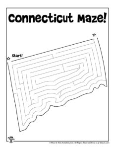 Connecticut Printable Coloring Page Maze