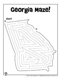 Georgia 50 States Map Activity Worksheet