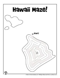 Hawaii Learn the States Classroom Activity Page