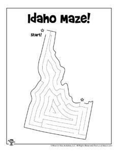 Idaho 50 States Maze Puzzle