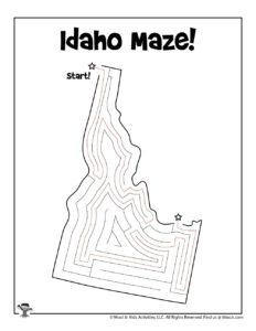 Idaho 50 States Maze Puzzle - KEY