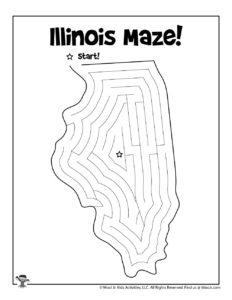 Illinois Printable Mazes of the 50 States
