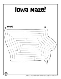 Iowa State Mazes for Kids