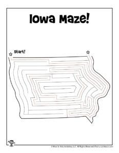 Iowa State Mazes for Kids - ANSWER