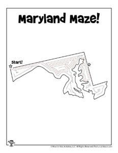 Maryland Printable USA State Mazes - KEY