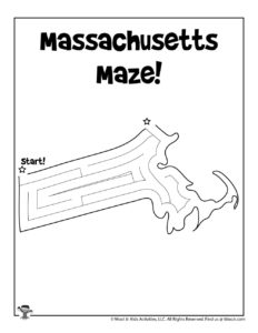 Massachusetts Coloring Page Worksheet