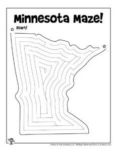 Minnesota Printable Maze for Kids