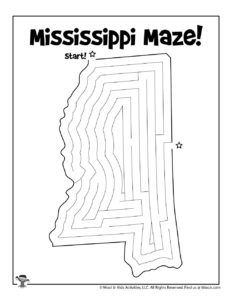 Mississippi Maze Activity Page