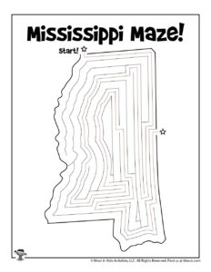 Mississippi Maze Activity Page - ANSWER KEY
